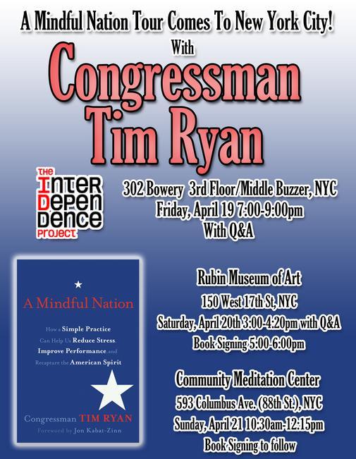 Congressman Tim Ryan New York City Tour
